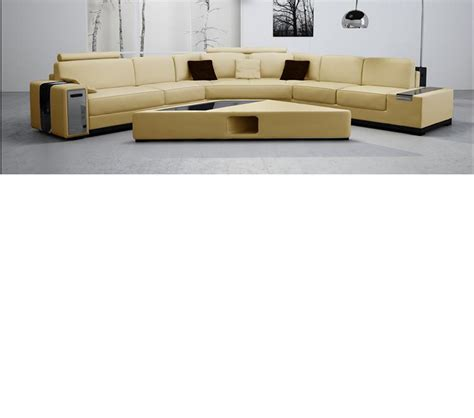Dreamfurniture Com 2516b Beige Leather Sectional Sofa Beige Leather Sectional Sofa
