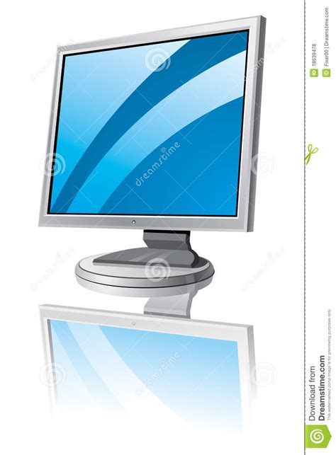 lcd monitor template royalty free stock photos image