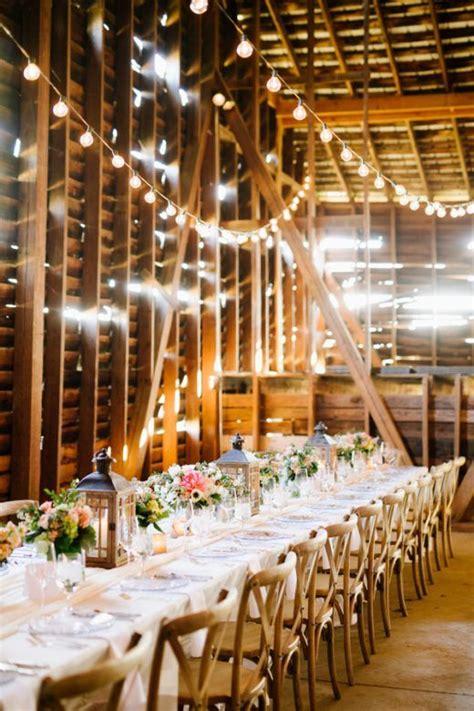 stunning rustic southern barn wedding wedding reception