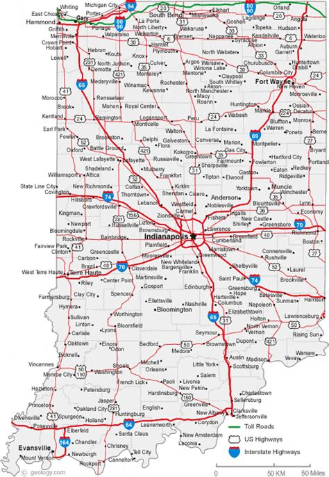 iu map map of indiana cities indiana road map