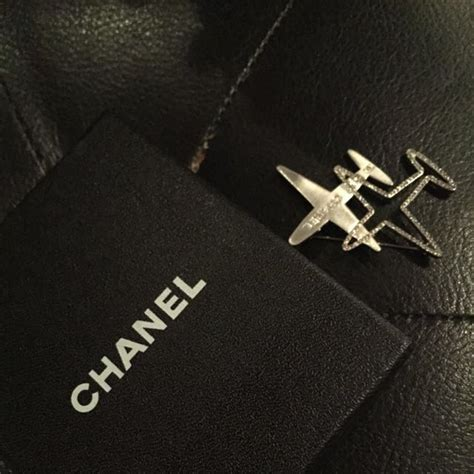Plane Brooch chanel plane cruise brooch luxury on carousell