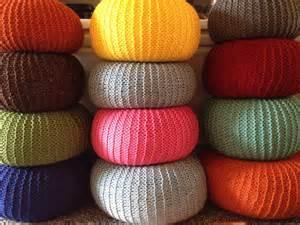 Knit Pouf Ottoman Stuffed Knitted Pouf Ottoman Nursery By Daintydamselfli