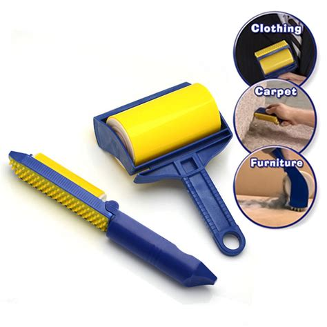 Lint Remover Roller 2x sticky buddy picker cleaner tool lint roller pet hair