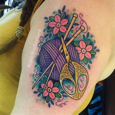 knitting tattoos designs 25 best ideas about yarn on knitting