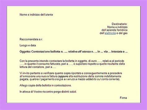 lettere di lamentela bolletta gas come fare reclamo con raccomandata