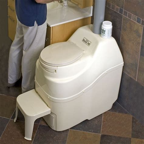 self contained bathroom sun mar excel ac dc hybrid composting toilet waterless