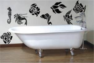 fish decals for bathroom 8 x fish stencil style wall sticker decal bathroom ebay