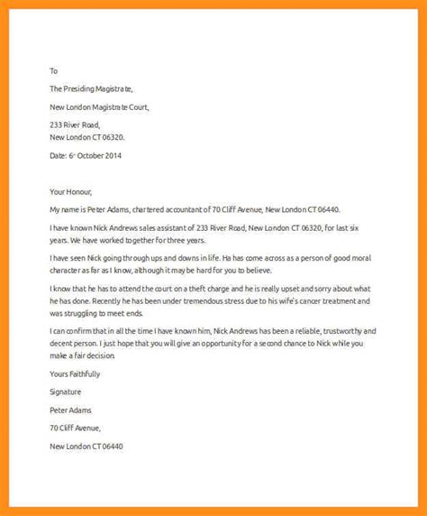 Character Letter Of Support To Judge Sle Character Letter To Judge 100 Images Formal Character Reference Letter Sle Compudocs Us