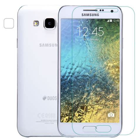 Delcell Tempered Glass Samsung E5 0 3mm tempered glass for samsung galaxy e5 e500 2 5d arc edge 9h glass with clean