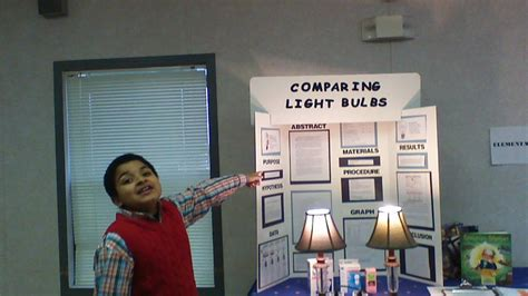 science project on light comparing light bulbs science fair project