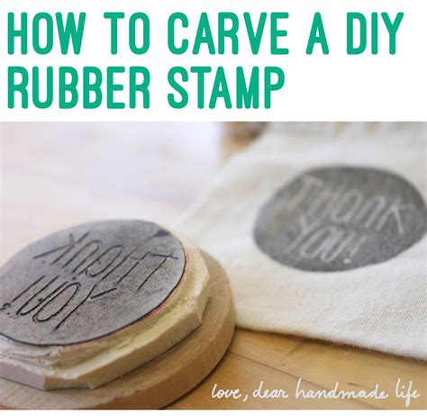 how to make your own rubber sts how to make a diy carved rubber st dear handmade
