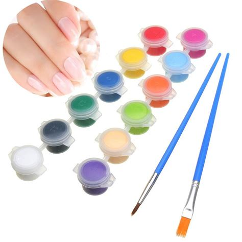 12 color set 3g nail diy paint pigment acrylic emulsion graffiti brush pen set alex nld
