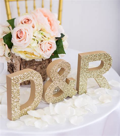 letters for table decorations initial signs letters freestanding wedding initial signs