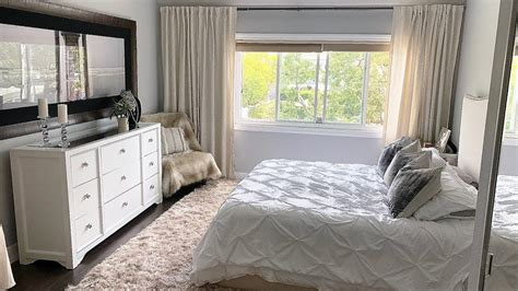 white beige bedroom decor makeover youtube