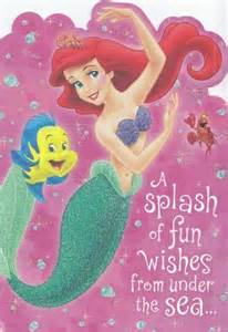 greeting card birthday mermaid quot a splash of wishes from the sea quot by greeting
