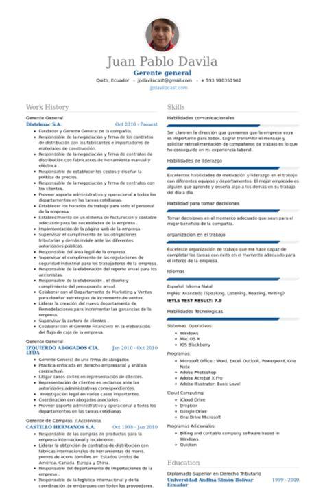 Ejemplo Curriculum Director Recursos Humanos Gerente General Ejemplo De Curr 237 Culum Base De Datos De Visualcv Muestras De Curr 237 Culos