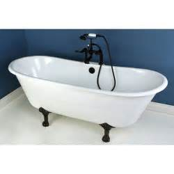 cast iron bathtub faucets 67 quot cast iron slipper clawfoot tub and oil rubbed bronze