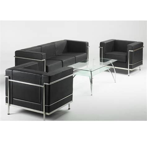 black and white leather sofas leather reception sofa in black or white black and