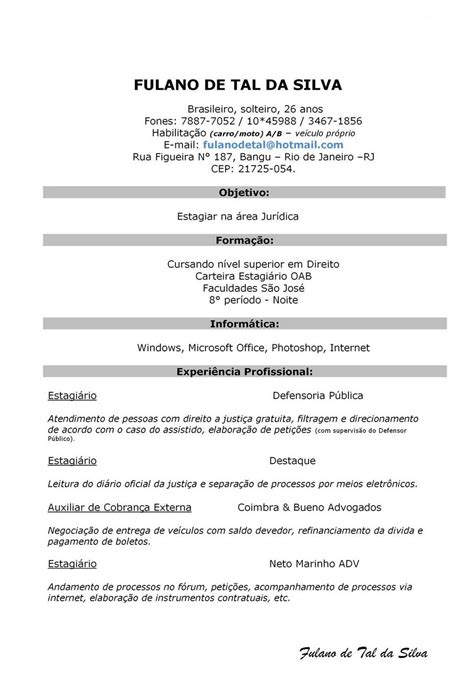 Modelo Curriculum Vitae Simple Modelo De Curriculum Simples Modelo De Curriculum Documentos Curriculo Prontos