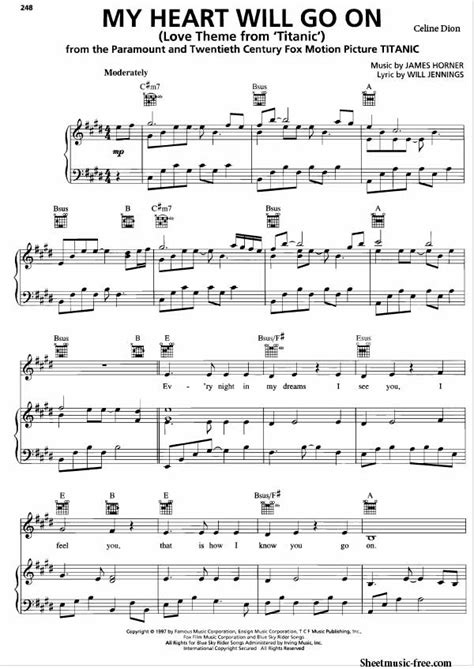 Theme Music Of Titanic Free Download | my heart will go on sheet music celine dion sheet music free