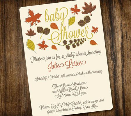 Fall Themed Baby Shower Invitation Wording by Fall Themed Baby Shower Invitations Cimvitation