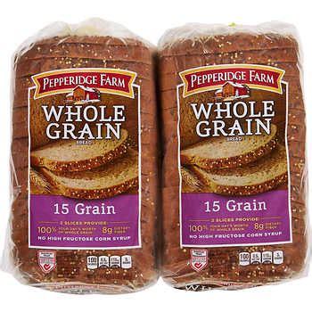 whole grain 15 grain bread pepperidge farm 15 grain whole grain bread 24 oz 2 ct