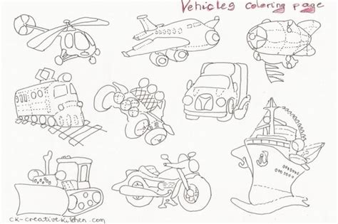 coloring pages for vehicles vehicles coloring pages creative kitchen