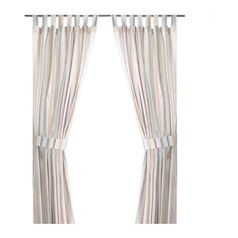 gardinenschals mit schlaufen rosenkvitten 2 gardinen raffhalter ikea