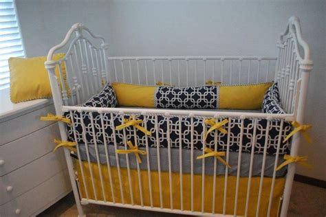 yellow and navy bedding navy and yellow crib bedding project nursery pinterest