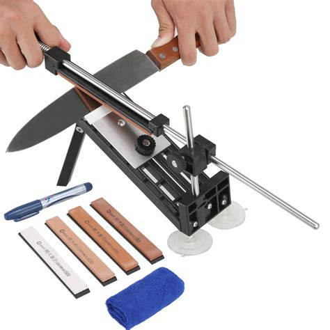 best sharpener for kitchen knives professional kitchen sharpening knife sharpener system fix angle with 4 stones ebay