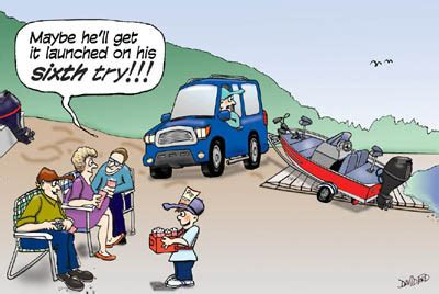 cartoon backing up boat towing tips and techniques to make your trip safe and