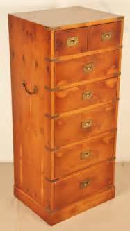 navy chest of drawers antiques atlas yew wood military wellington chest of drawers