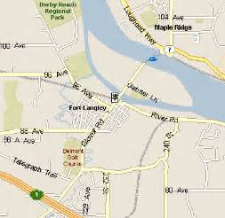 langley canada map fort langley bc
