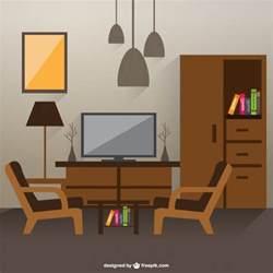Dibujo de interior de sala de estar descargar vectores gratis