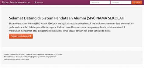membuat website dengan codeigniter dan bootstrap sistem pendataan alumni dengan codeigniter maful prayoga