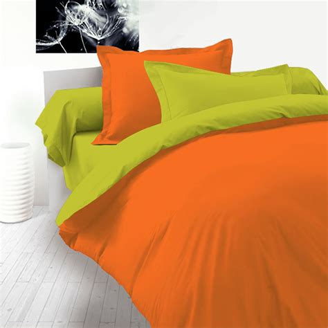 orange and green comforter green orange 100 cotton reversible bed linen set