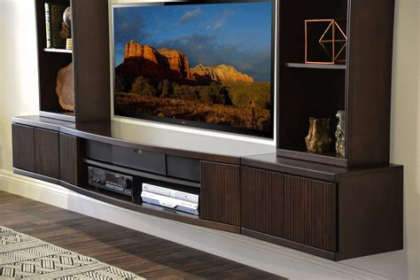 Floating TV Stand Wall Mount Entertainment Center   The
