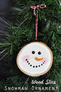 wood craft ornaments easy ornament craft using a wood slice clumsy