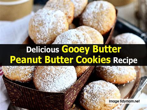 delicious gooey butter peanut butter cookies recipe