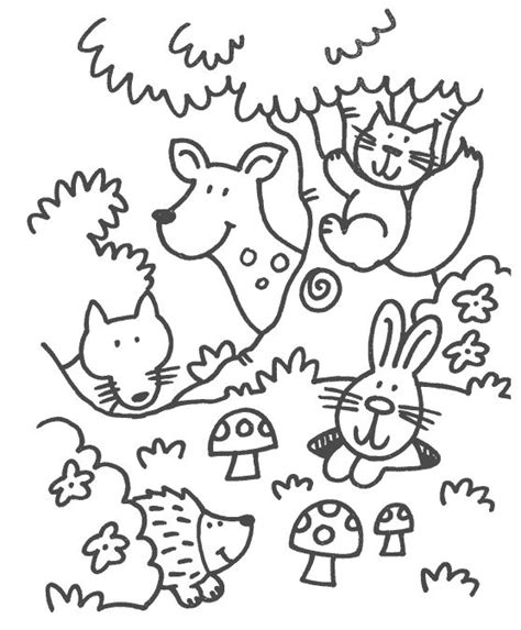 printable coloring pages woodland animals 479 best herfst images on fall kindergarten