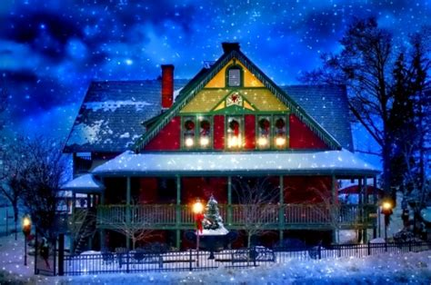 christmas house houses architecture background
