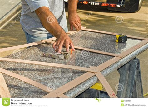 Measuring For Granite Kitchen Countertop by Granite Countertop Measurement Stock Photo Image 9525820