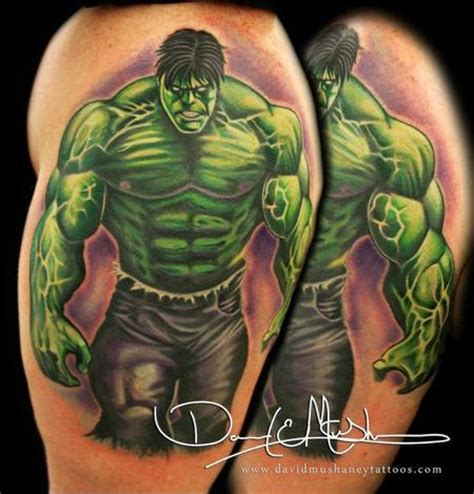incredible hulk tattoos the by david mushaney tattoos