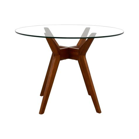 elm glass dining table buy glass jen table quality second furniture