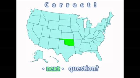 united states map of oklahoma interactive united states map quiz correct oklahoma