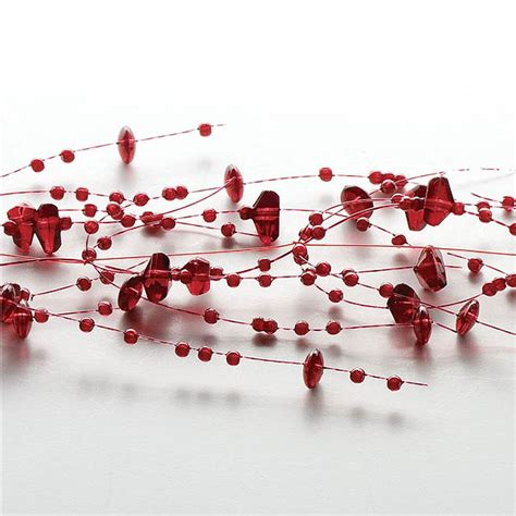 beaded garland for candles ruby beaded garland decorative beaded candle garlands