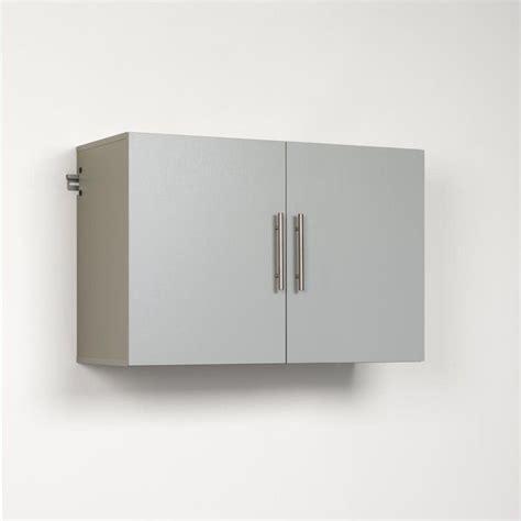 prepac hangups 36 quot upper storage cabinet in light grey