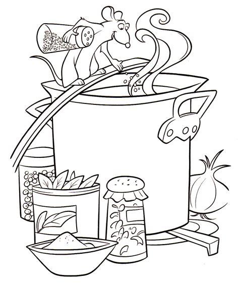 dessin de cuisine à imprimer coloriage a imprimer ratatouille remy cuisine gratuit et