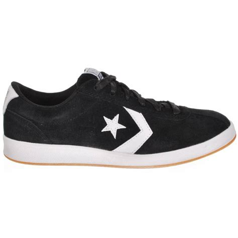 skate shoe converse converse ka one ox black white skate shoes
