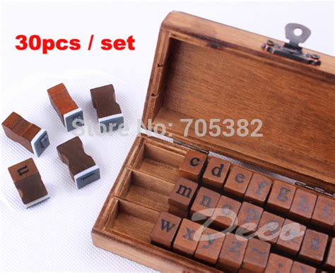 decorative woodwork supply aliexpress buy 30pcs set vintage lowercase